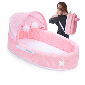 Bassinet To-Go: Pink Dots