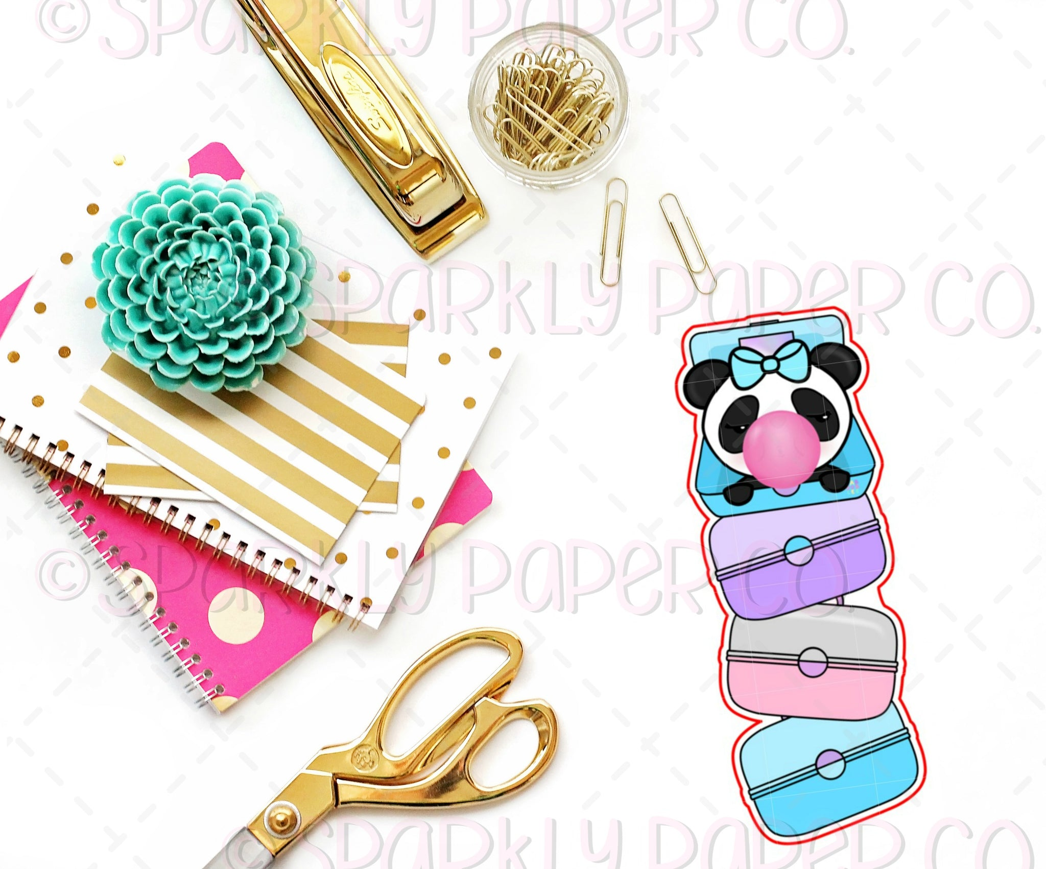 90's Caboodle Stack Bookmark Die Cut