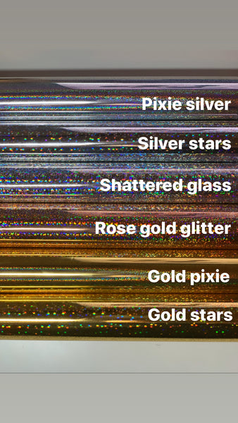Stars Header/Dividers Clear Foiled Stickers (sf0003)