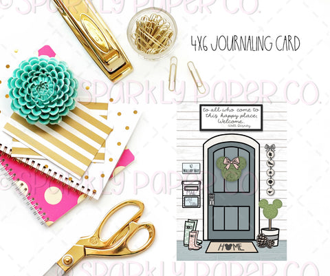 Farmhouse Magic Front Door Journaling Card