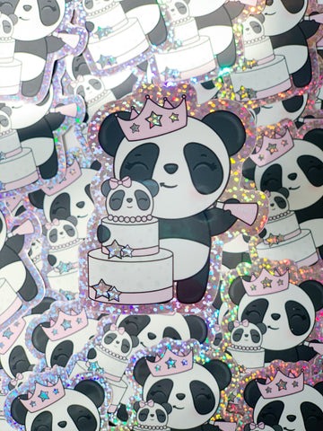 Patty Birthday Girl Glitter Vinyl Sticker Die Cut