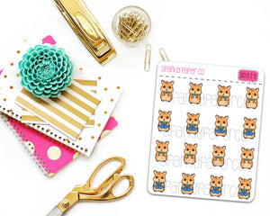 Ken The Hamster Planner Stickers (matte removable) S0023