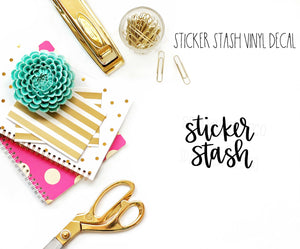 Sticker Stash Vinyl Decal
