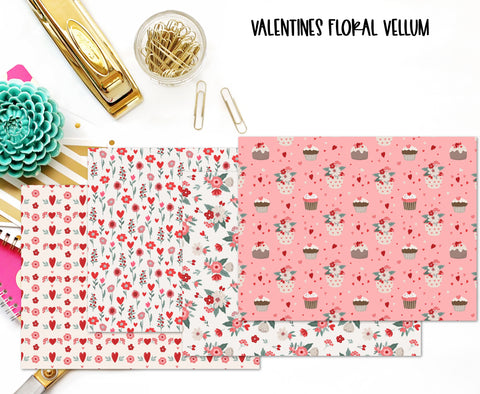 $2 TUESDAY SPECIAL Valentines Floral Vellum