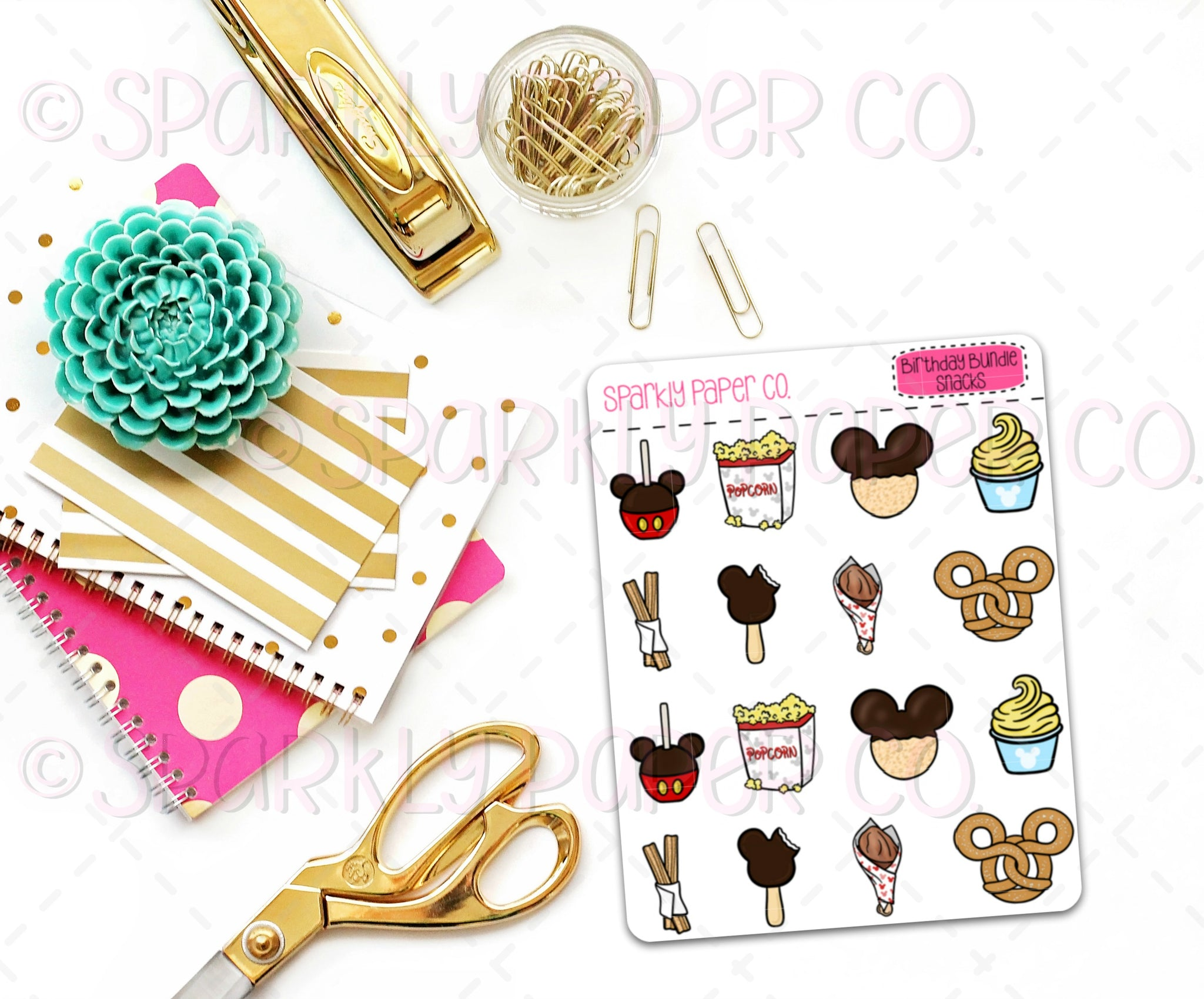 Magical Birthday Snacks Stickers (matte removable)