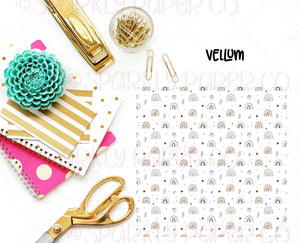 Boho Rainbows, Stars & Gems Vellum