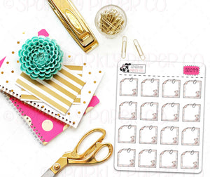 Champagne Bloom Sticky Note Stickers (matte removable) S0099