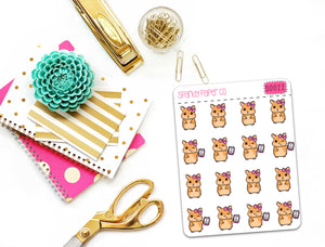 Charlotte the Hamster Planner Stickers (matte removable) S0022