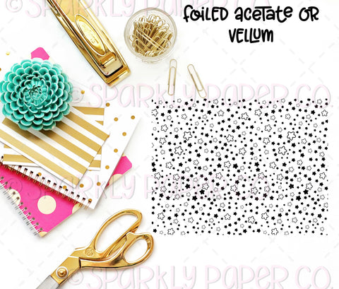 Chubby Stars Foiled Acetate or Vellum