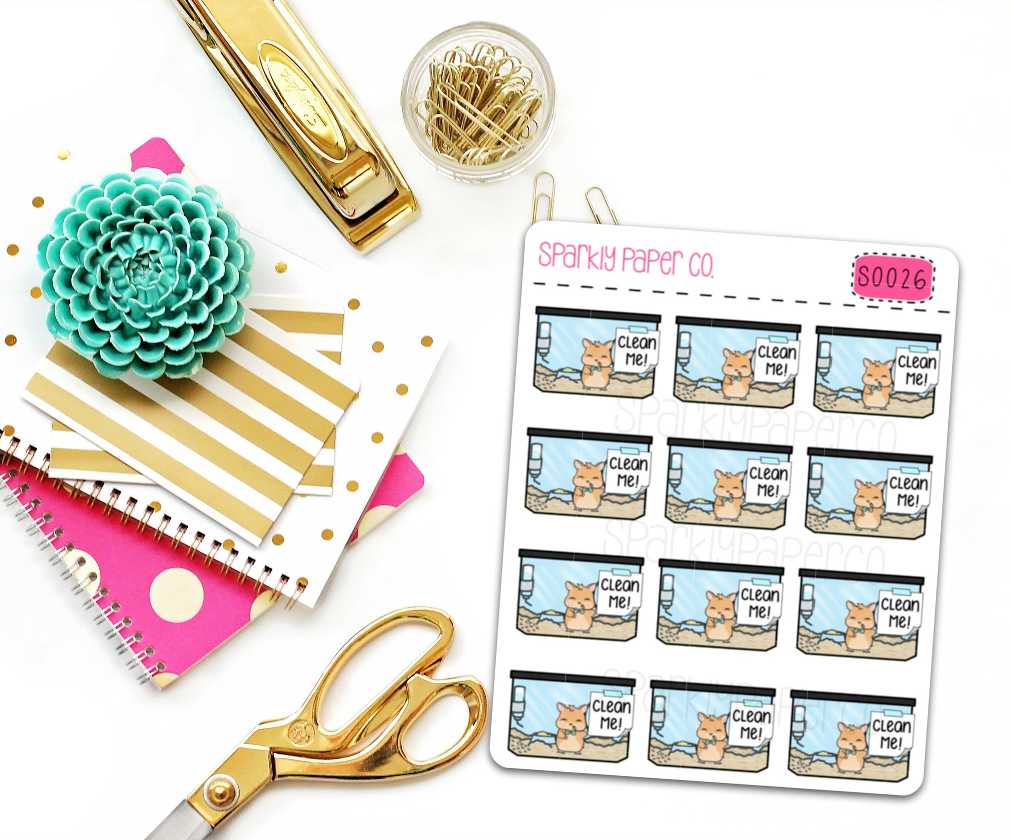 Clean Ken Planner Stickers (matte removable) S0026