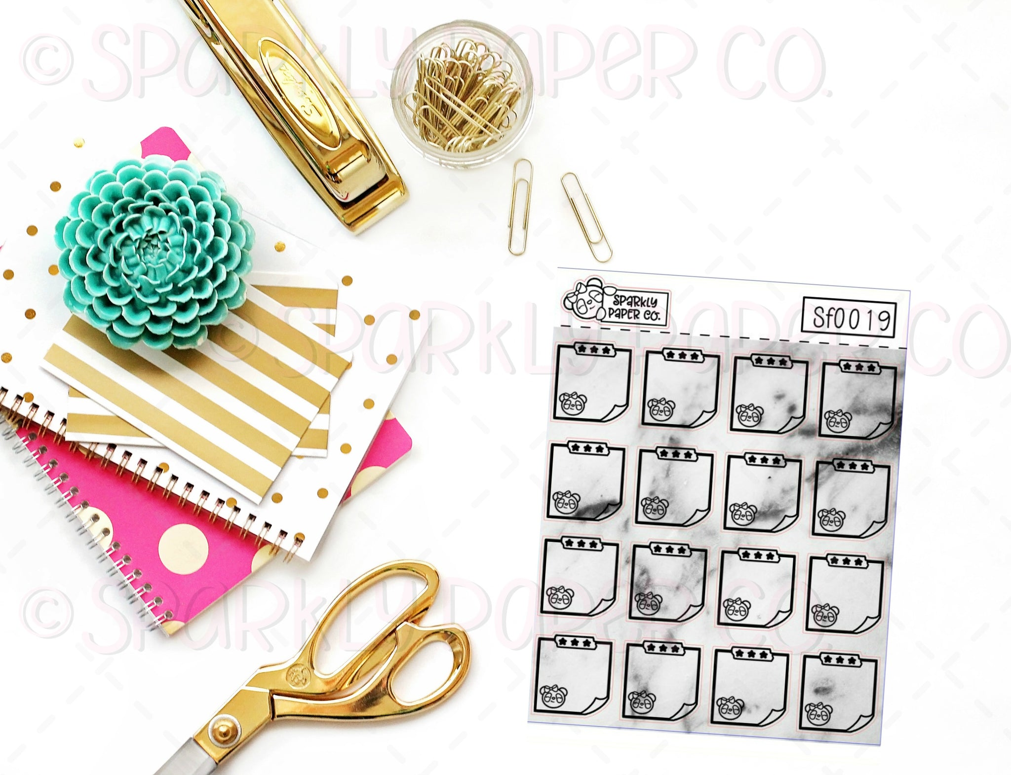 Foiled Marble Sticky Note Sticker SF0019