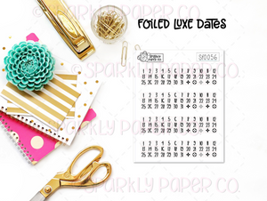 Foiled Luxe Dates (clear paper) SF0056