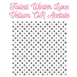 FOILED Winter Luxe Vellum OR Acetate (Limited Edition)