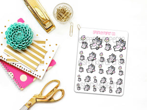 Hazel Cotton Candy Balloons Planner Stickers (matte removable)