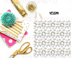 Hearts and Rainbows Vellum