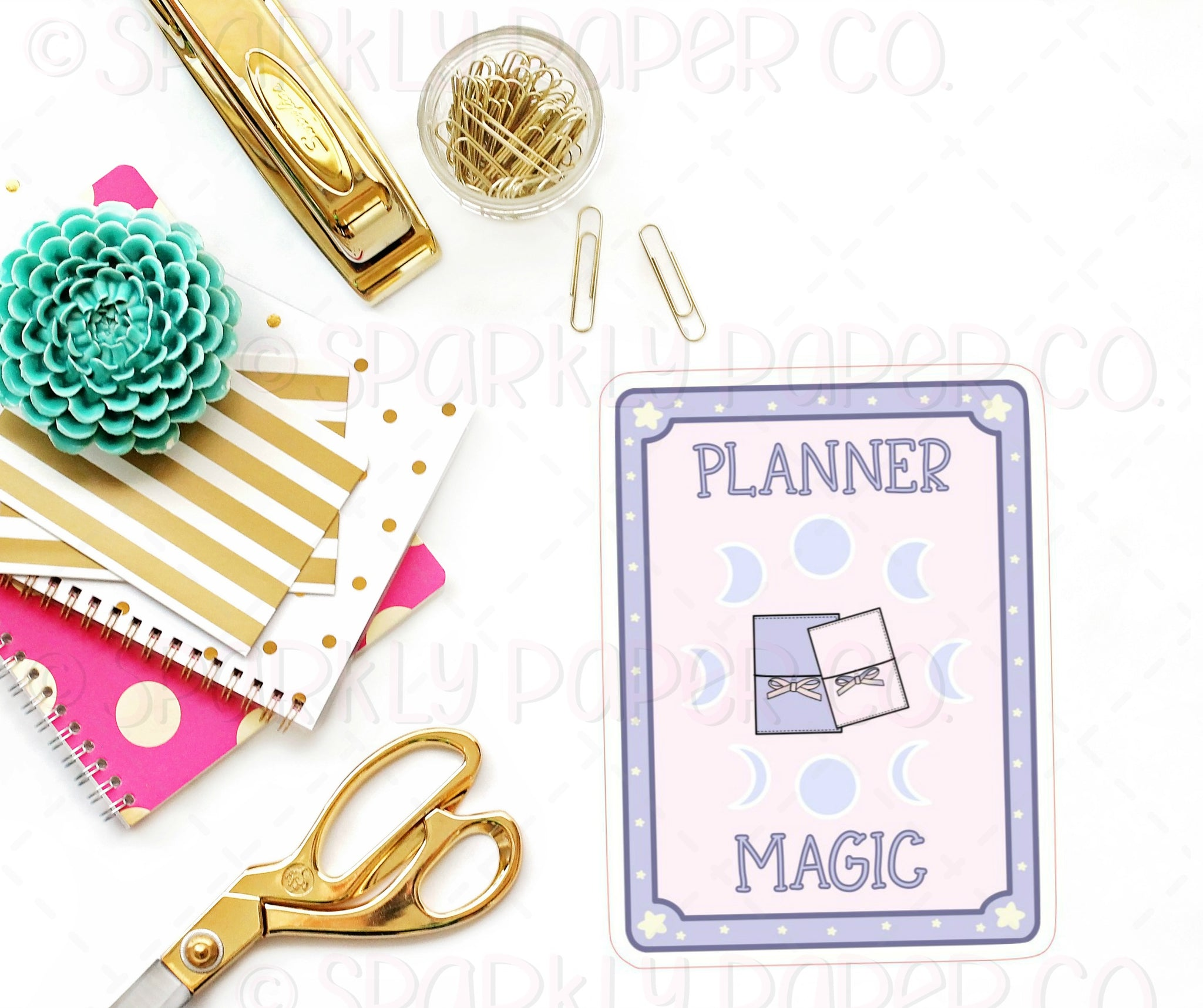 Large Sparkly Planner Magic Sticker Die Cut