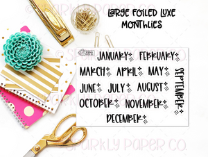 Large Foiled Luxe Dates (clear paper)