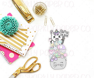 Luna Here For the Boos Bookmark Sticker Die Cuts