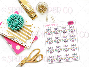 Luna I Woke Up Like This Planner Stickers (matte removable) S0044