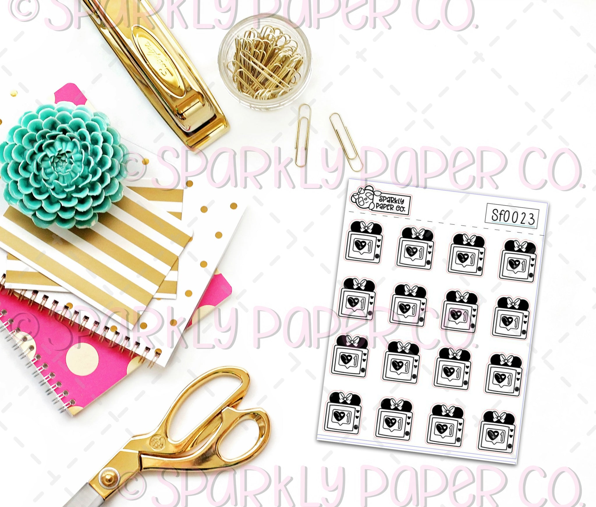 Foiled Magical Subscription Stickers(clear paper) SF0023