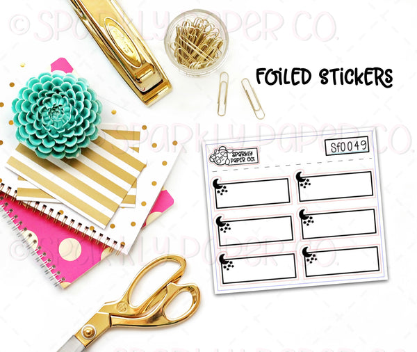 FoiledMoons and Stars Quarter Box Stickers (premium matte)