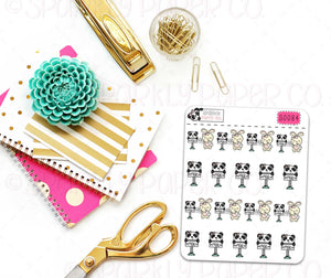 Panda Happy Mail Stickers (matte removable) S0084