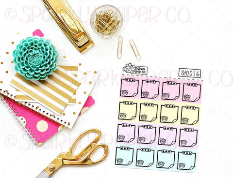 Foiled Pastel Patty Sticky Note Sticker SF0016