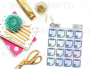 Foiled Galaxy Sticky Note Sticker SF0017