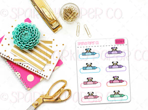 Patty Crayon BIV Stickers (matte removable) S0064