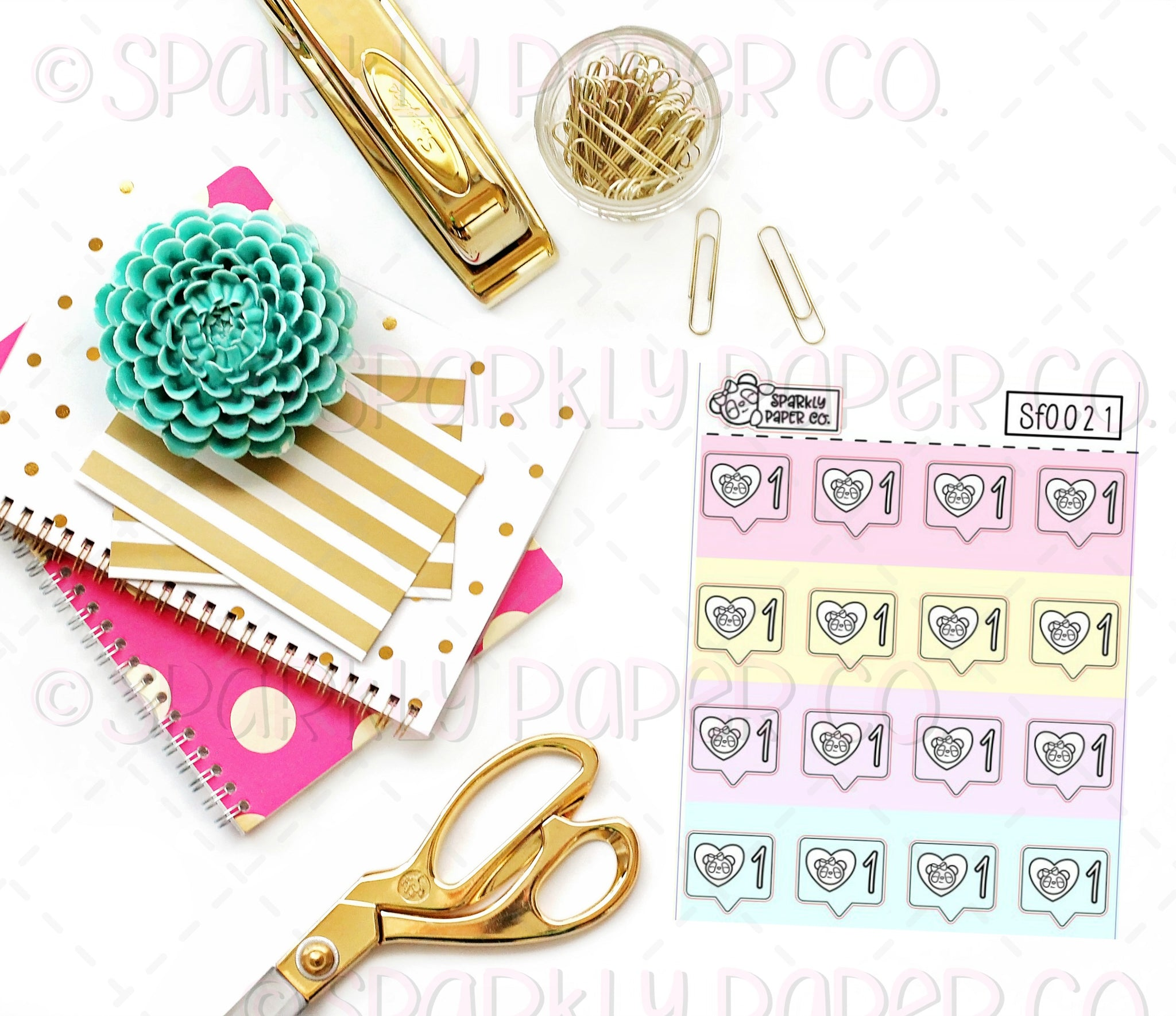 "Foiled Pastel Patty ""Likes"" Stickers (premium matte) SF0021"