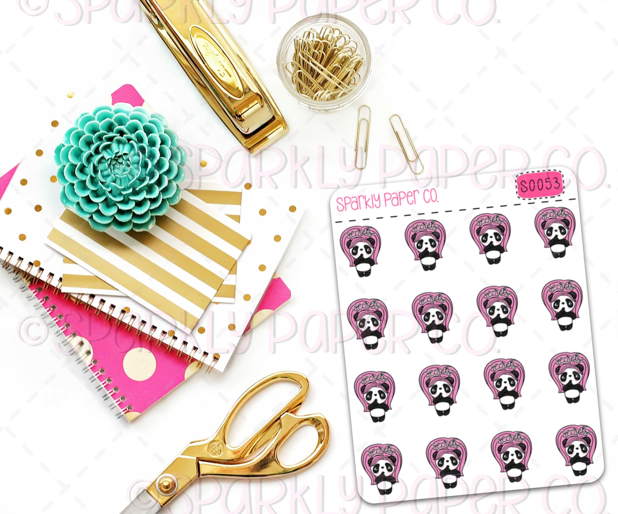 Patty Secrets Planner Stickers (matte removable) S0053