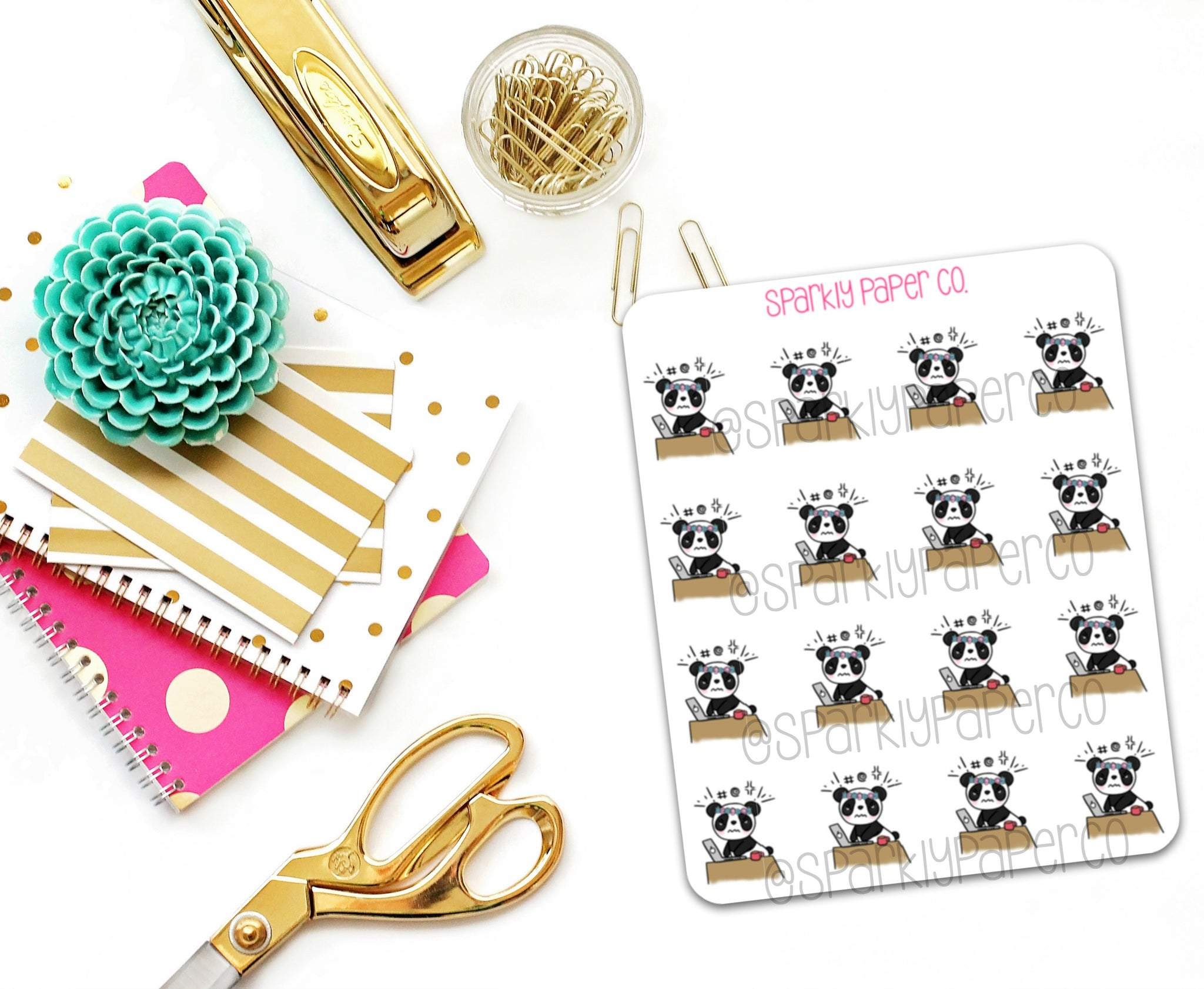 Petty Patty is Working Planner Stickers (matte removable)