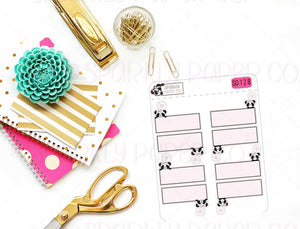 Peeking Patty Grid Quarter Boxes (matte removable) S0128