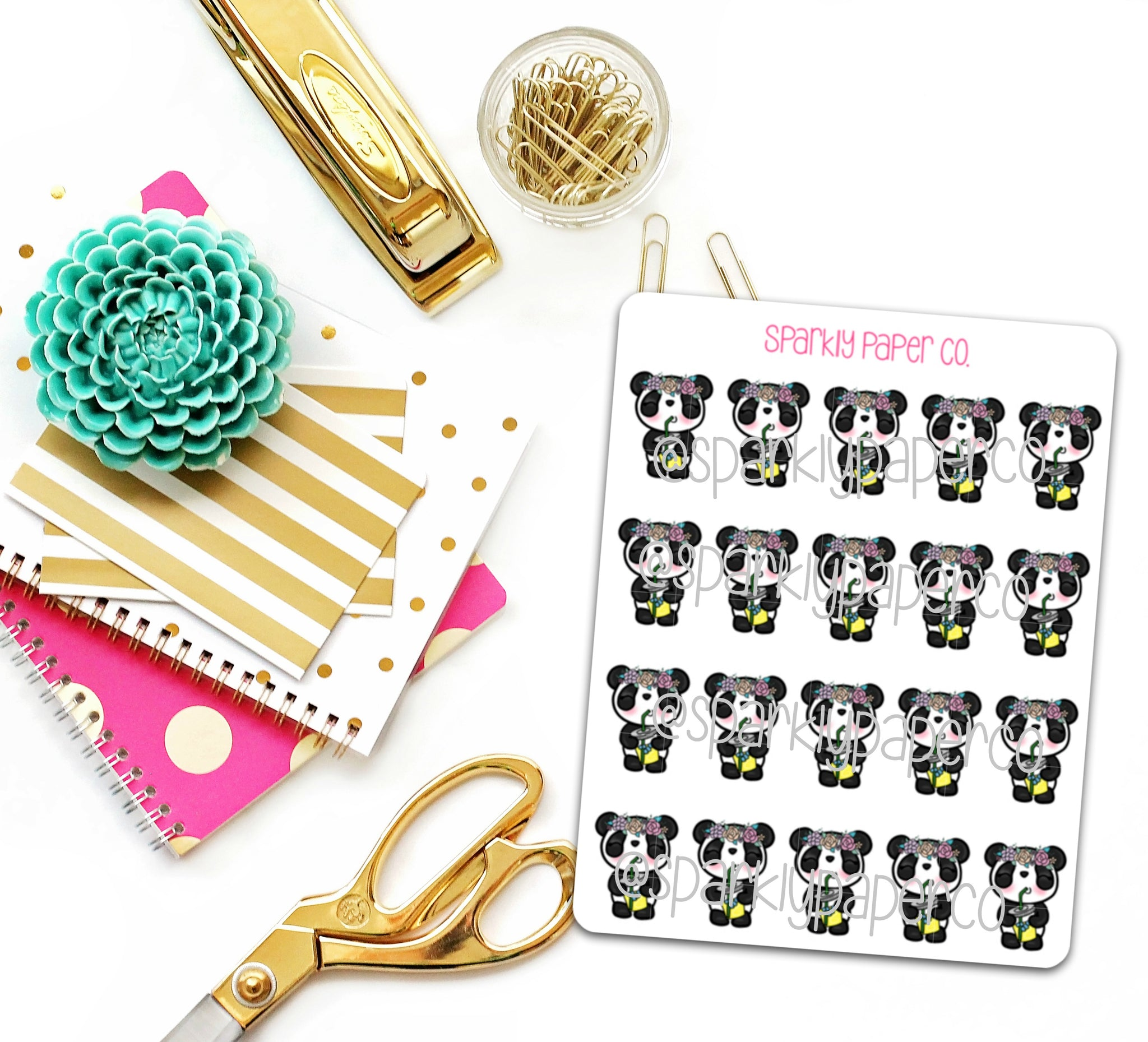 Petty Patty Sipping Tea Planner Stickers (matte removable)