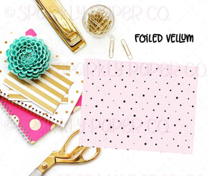 Pink Grid Foiled Vellum