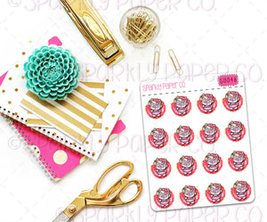 Poppy Pool Day Planner Stickers (matte removable) S0048