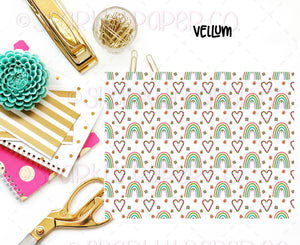 Rainbows and Candy Canes Vellum