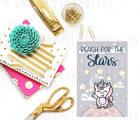 Reach for the Stars Journaling Card