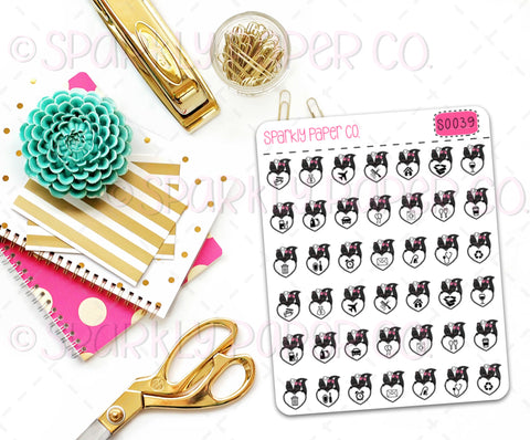 Skunk Icons Planner Stickers (matte removable) S0039