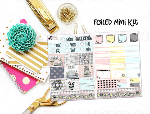 Spring Farmhouse Foiled Mini Kit (premium matte)