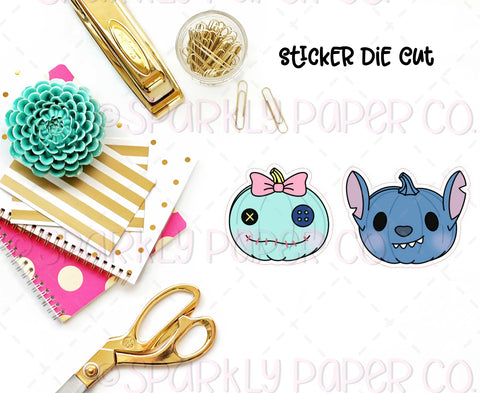 Stitch & Scrump Pumpkin Sticker Die Cut