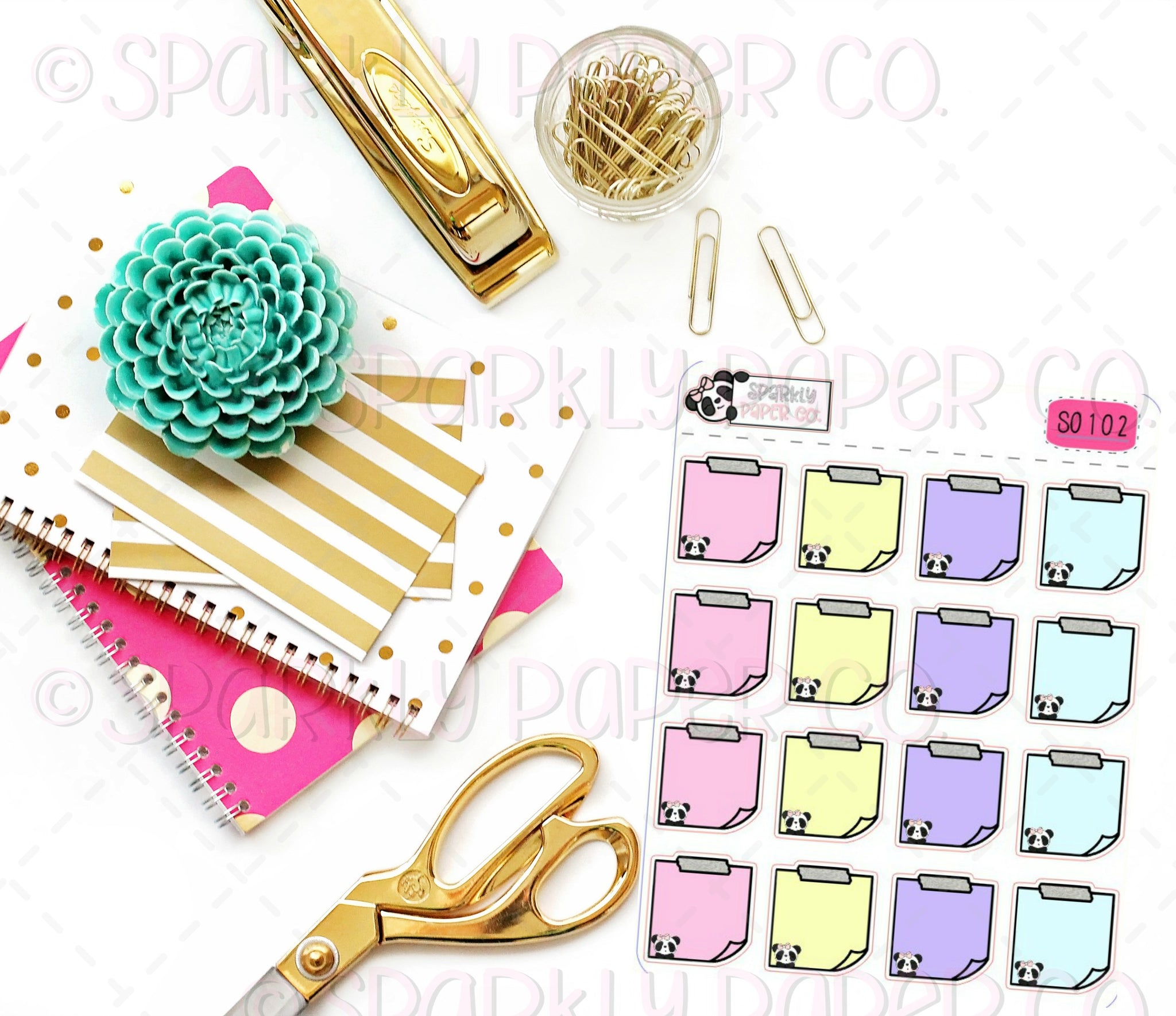 Summer Patty Sticky Note Stickers (matte removable) S0102