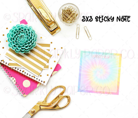 Tie Dye 3x3 Sticky Notes