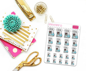 Winnie Hot Mess Express Planner Stickers (Matte removable) S0031