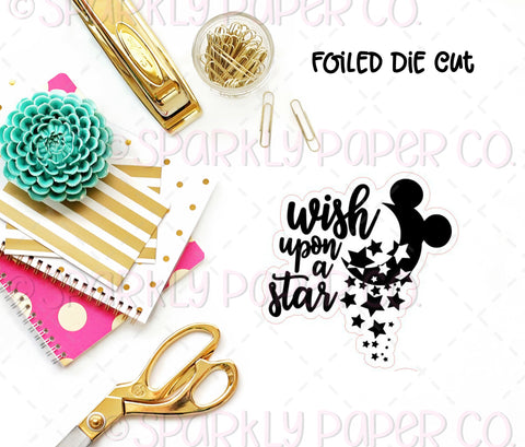 Wish Upon a Star Foiled Sticker Die cut