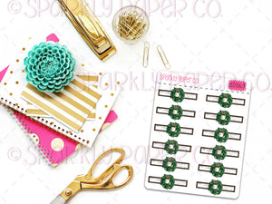 Wreath Headers Planner Stickers (matte removable) S0060