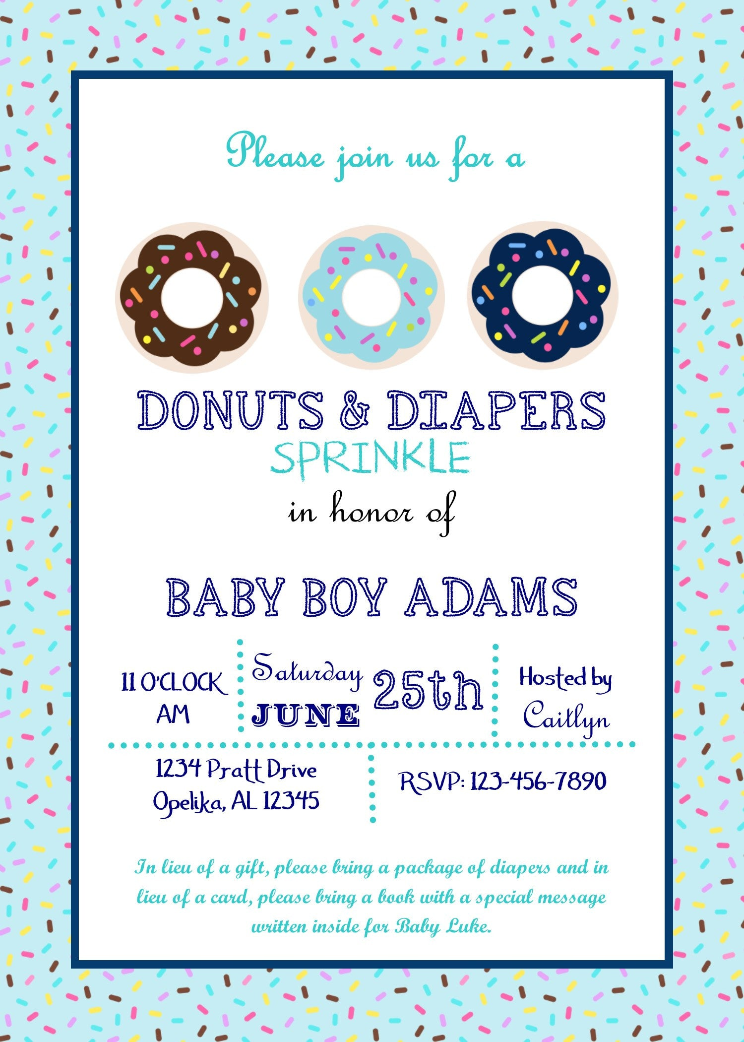Donuts and Diapers Baby Shower Invitation – Party On Invites