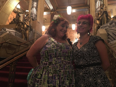 Amanda and I decending the grand staircase. I hope she forgives me for being a complete dork during the show!