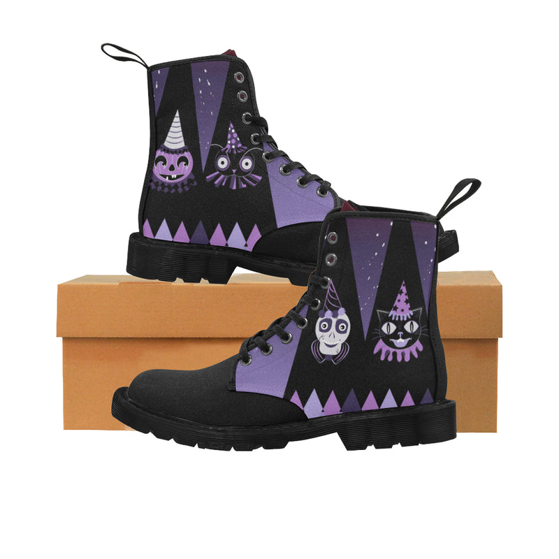Halloween Party Animals Purple Woman's Boots