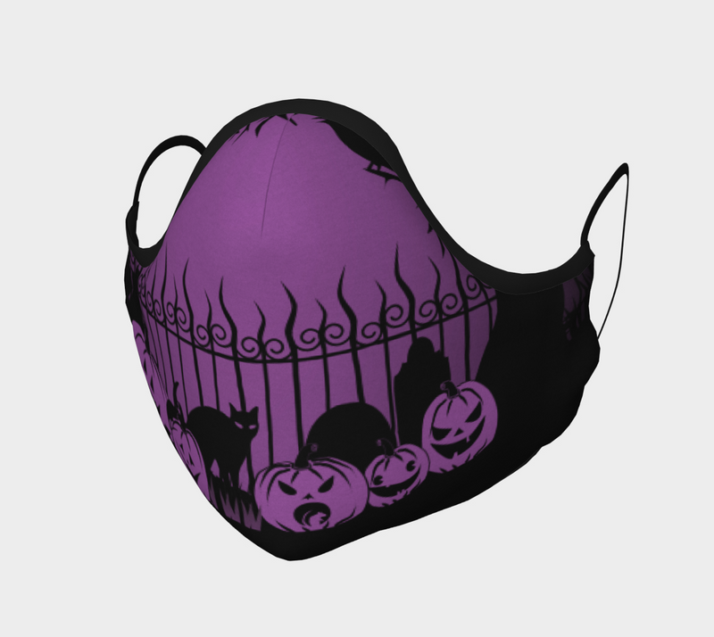 Trick or Treat in the Graveyard Purple Mask